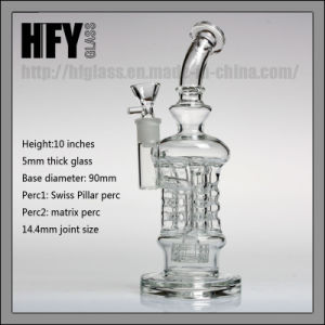 Hfy 2017 New Leisure 14mm Swiss Pillar Water Pipes Bubbler Hookah Heady Glass Smoking Pipe pictures & photos