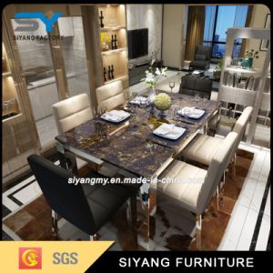 Royal Dining Set Stainless Steel Dining Table for Hotel pictures & photos
