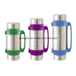 Travel Mug, 400ml, Made of PP + PS+ Stainless Steel, Customized Logos Welcomed pictures & photos