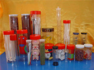 Gift Package Clear Pet/PETG Plastic Food Tubes pictures & photos