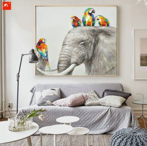 Parrots and Their Freinds Elephant Zebra Wall Art Painting pictures & photos