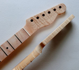 Custom Unfinished One Piece Flamed Maple Tele Guitar Neck pictures & photos