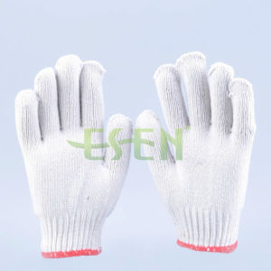 800g Safety Cotton Knitted Work Gloves Best Price Cotton Gloves pictures & photos