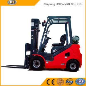 China Red 2500kg Dual Fuel Gasoline/LPG Forklift on The Market pictures & photos