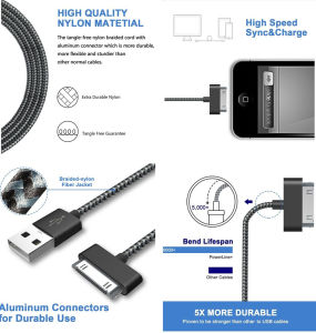30 Pin USB Sync and Charging Data Cable for iPhone 4/4s/iPod pictures & photos