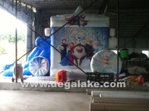 Inflatable Frozen Carriage Bouncy Slide Combo for Kids pictures & photos