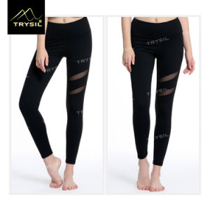 Sexy Yoga Legging with Mesh Gym Ankle Pants for Ladies pictures & photos