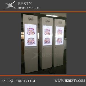 Customized Tower Display Showcase with LED Logo pictures & photos