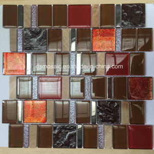 European Style Red Glass and Marble Mosaic Tile for Wall pictures & photos