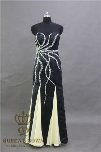 Black Mermaid Prom Dresses Sweetheart Strapless Beadings Prom Gowns pictures & photos