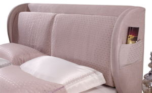 Foshan China Furniture Factory Double Bed Designs Fabric Soft Bed pictures & photos