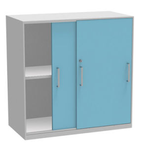Metal Book Cabinet with 2 Drawers (SI6-LCF2BC) pictures & photos