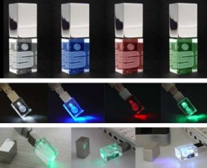 LED Light Crystal USB 2.0 Memory Stick Flash Pen Drive pictures & photos