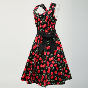 Suzhou Maxi Ladies Sexy Floral Summer Beach Halter Dresses pictures & photos