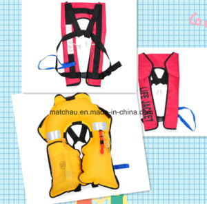 Manufacture Supply Automatic Single Air Chamber Inflatable Life Jacket pictures & photos