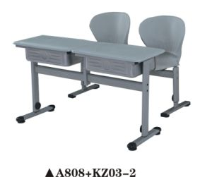 High Quality School Double Desk and Chair pictures & photos