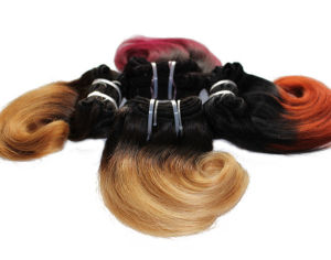 8inchs Short Wavy Weave Two Tone Ombre Human Hair Weft pictures & photos