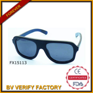 Trade Assurance Black Handmade Bamboo Sunglasses (FX15113) pictures & photos