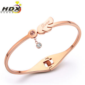 Stainless Steel Diamond Bracelet, Fashion Jewelry Gold Bracelets (hdx1121) pictures & photos