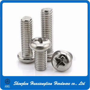Stainless Steel Round Pan Head Philips Cross Machine Screw pictures & photos