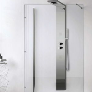 Stainless Steel Shower Panel System with Srain Nickel Finish