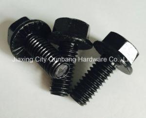 Flange Bolts (M5-M20 Black Zinc Plated Cl. 4.8/6.8/8.8/10.9 DIN6921) pictures & photos