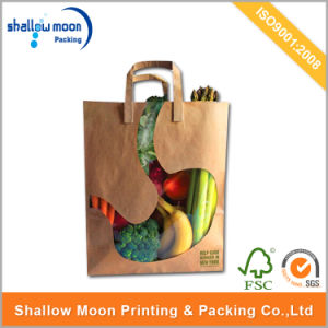 Customized Kraft Paper Bag with Twist Handle and Window (QYCI15400) pictures & photos