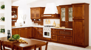 Small Teak Wood Kitchen Cabinet pictures & photos