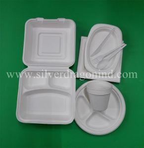 Biodegradable Compostable Sugarcane Pulp Paper Bowl 460ml pictures & photos