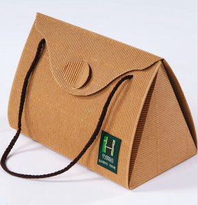 New Corrugated Kraft Paper Carrying Bag pictures & photos