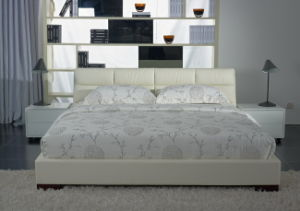 Foshan Furniture Modern Frame Soft King / Queen Size Leather Bed pictures & photos