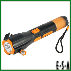 2015 Multifunction Hand Crank Car Rescue Flashlight, LED Car Emergency Flashlight with Safety Hammer & Safety Belt Cutter G01e124 pictures & photos