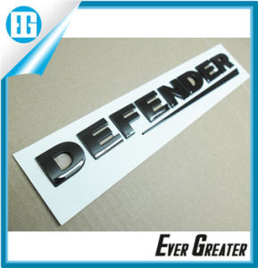 Customized 3D Soft Nickel Chrome Label Chrome Sticker pictures & photos