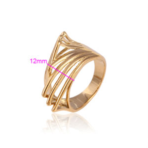 Xuping Fashion Women Simple 18k Gold-Plated Imitation Jewelry Ring 11584 pictures & photos