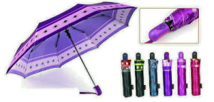 Print Satin 3 Fold Quality Windproof Umbrellas (YS-3FA22083963R) pictures & photos