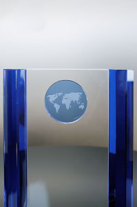 Appreciation Plaques Brunswick Cobalt Crystal Globe pictures & photos