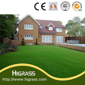 30mm Soft Fire-Proof Synthetic Lawn Turf with C Shape Yarn pictures & photos