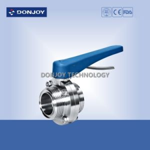 4 Inch Direct Way Threaded Butterfly Valve with Plastic Handle pictures & photos