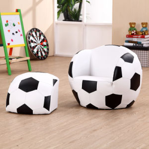 Football PVC Leather Sofa with Ottoman /Children Furniture (SF-107) pictures & photos