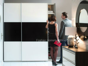 Fashion Sliding Wardrobe with 2 Shutter Doors (HF-EY080306) pictures & photos