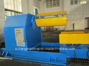 Heavy Duty 10 Ton Hydraulic Uncoiler for Metal Coil with Loading Car Roll Forming Machine pictures & photos