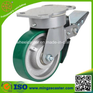 250mm Cast Iron PU Wheel Industrial Wheel Caster pictures & photos