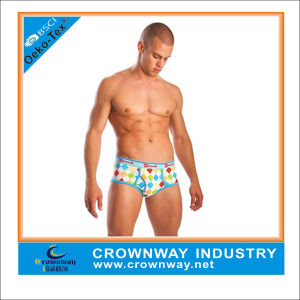 Men′s Sexy Spandex Boxer Briefs with Custom Full Printing pictures & photos