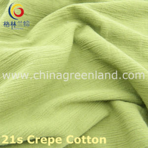 100%Cotton Crepe Thicken Fabric Imitation of Linen-Cotton for Textile (GLLML221) pictures & photos