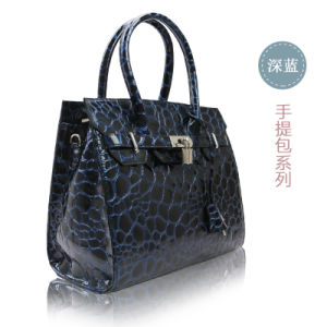 Stone Surface Cow Leather Handbags for Womens Collections pictures & photos