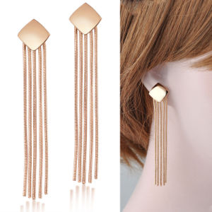 Latest Women Long Dangle Tassel Earring Without Crystal pictures & photos