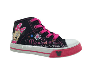 Fashion Cartoon High Anklechildren Shoes Sneaker (X166-S&B)