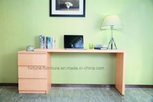 Wooden Veneer Laminated Stretchable Computer Desk with Chest of Drawers (N702A-St)