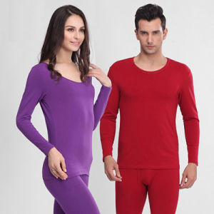 Women′s Cotton Long Sleeve Thermal Underwear pictures & photos