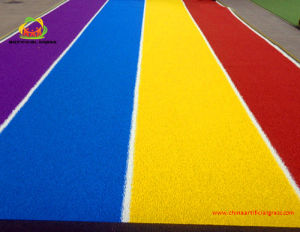 Colorful Rainbow Artificial Grass with White Line